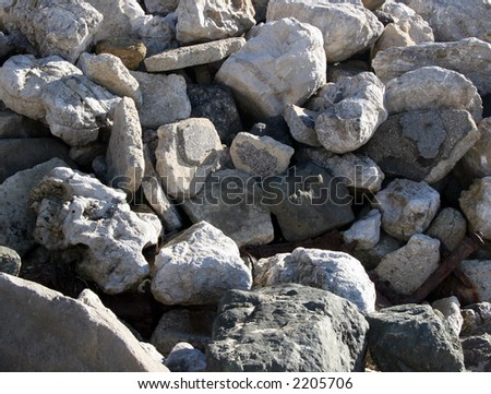 Beach rocks. - stock photo