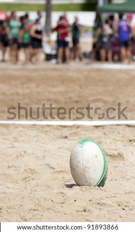 Beach rugby ball, rugby team back