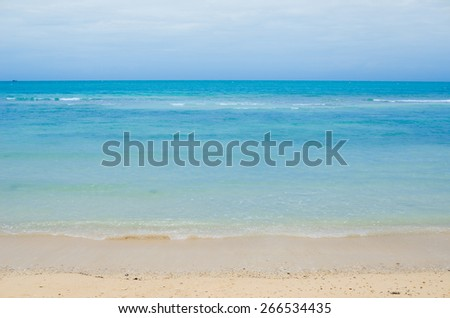 Beach sand and blue sea in Thailand - stock photo