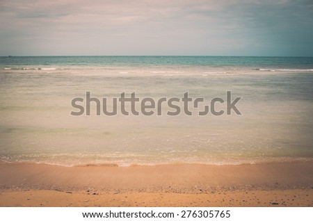 Beach sand and blue sea in Thailand vintage - stock photo