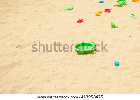 beach sand and toy  - stock photo