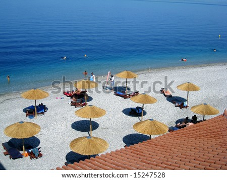 beach scene during summer - stock photo