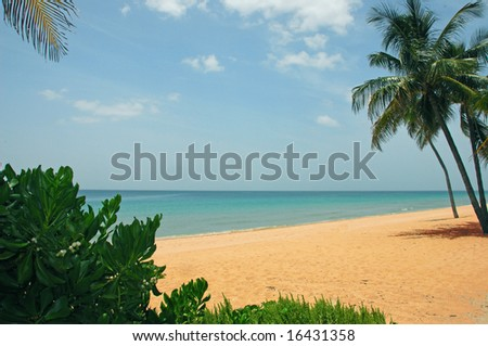 Beach Scene Postcard - stock photo