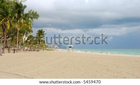 Beach scenery from Florida - stock photo