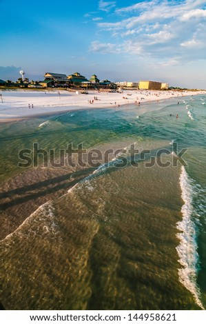 beach scenes at okaloosa island fishing and surfing pier