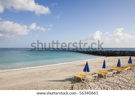 Beach scenics for vacations and summer getaways - stock photo