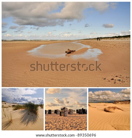 Beach, sea and clouds - stock photo