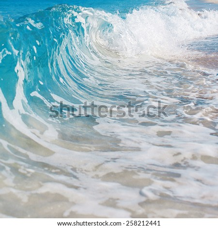 Beach. sea relaxation landscape - stock photo