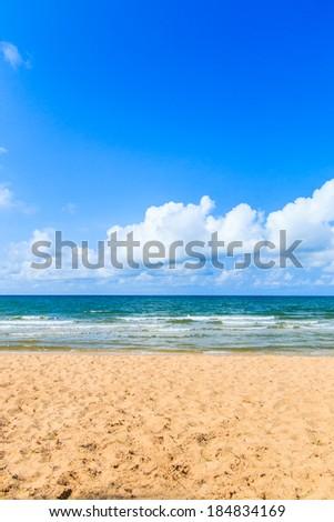 Beach sea sand sky - stock photo