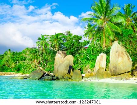 Beach Seascape Paradise - stock photo
