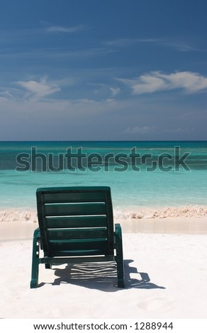 Beach Seat - stock photo