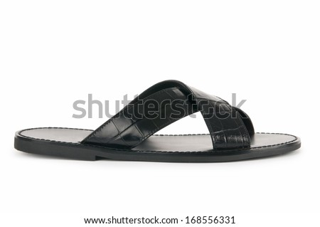 Beach shoes isolated on the white background