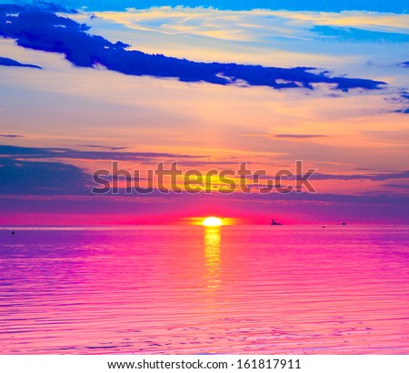 Beach Sky Cloudscape  - stock photo