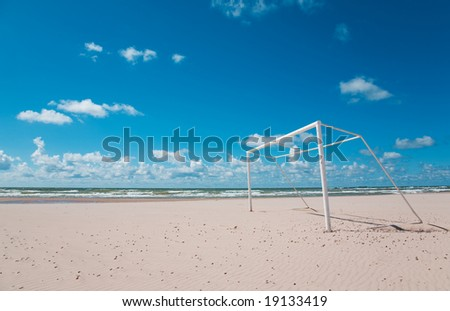 Beach Soccer/Football - stock photo