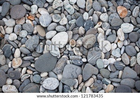 beach stones - stock photo