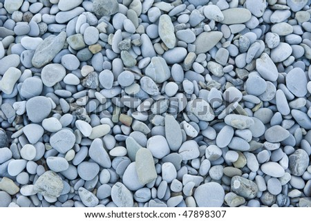 Beach stones. - stock photo