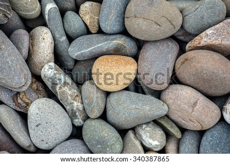 beach stones background - stock photo