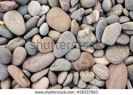 beach stones background - stock photo