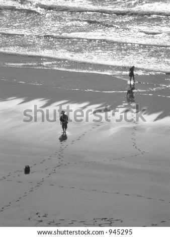 Beach Stroll - stock photo