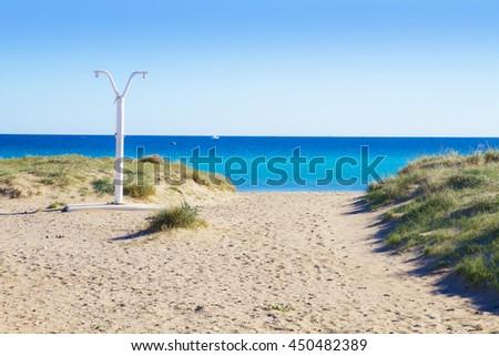 beach summer - stock photo