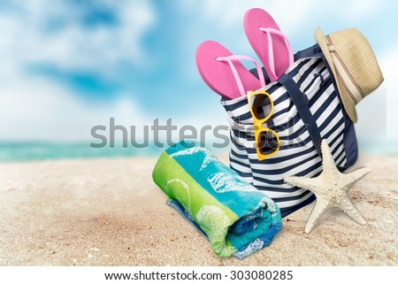 Beach, Summer, Group of Objects.