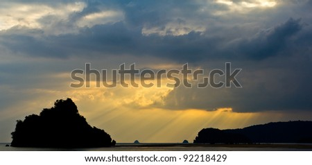 Beach sunlight - stock photo