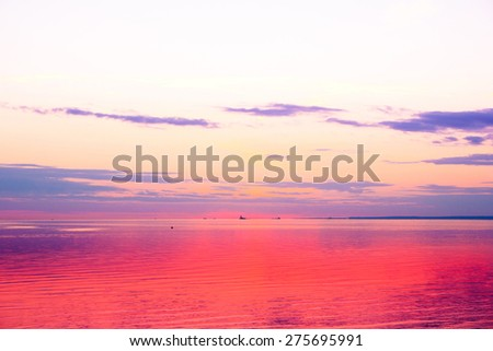 Beach Sunset Sky  - stock photo