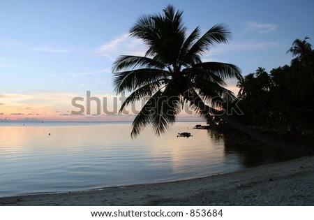 Beach Sunset - Thailand - stock photo