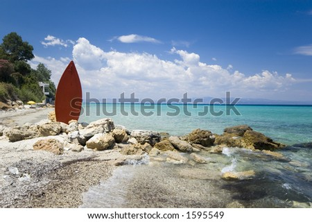 beach surf - stock photo