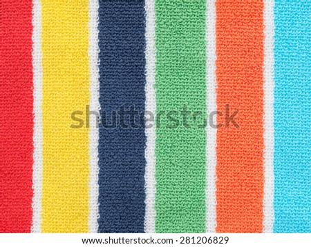 Beach towel background - stock photo