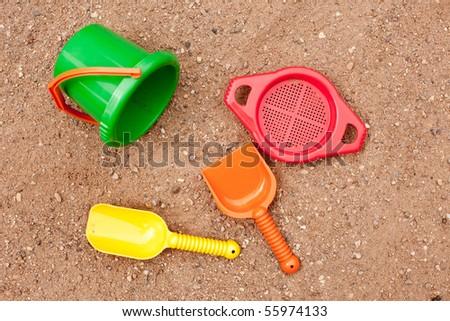 beach toys - stock photo