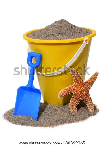 beach toys on white  - stock photo