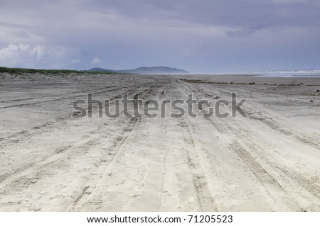 Beach Trail - stock photo