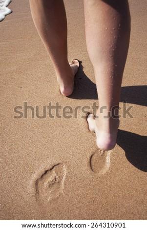Beach travel. - stock photo