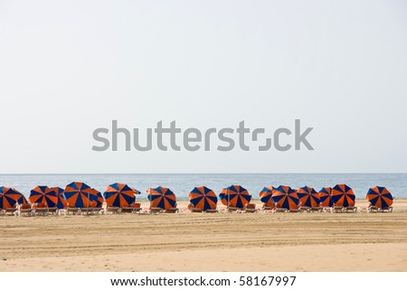 Beach umbrellas - stock photo