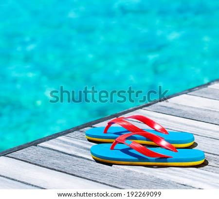 Beach vacation concept - stock photo