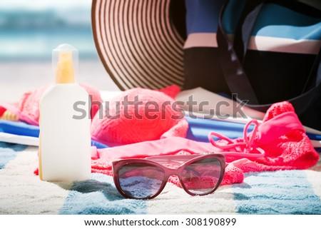 beach vacations - stock photo