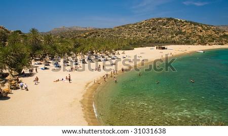 Beach Vai, Crete Greece - stock photo