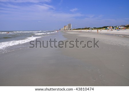 Beach view - stock photo