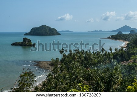 Beach view as the most beautiful beaches on the island, Thailand - stock photo