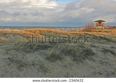 Beach view at the autumn (Bulli, Riga, Latvia)