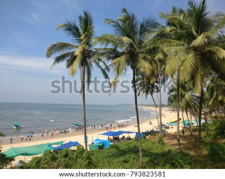 Beach view in Goa, India