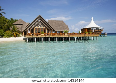 Beach Villa Standing On The Water