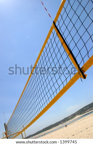 beach volley - stock photo