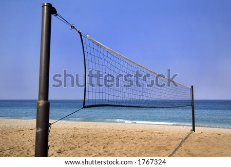 beach volley - stock photo