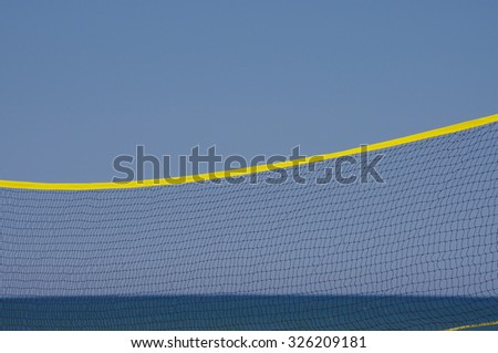 beach volley ball out doors - stock photo