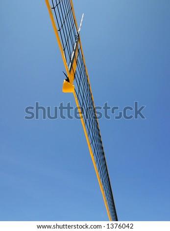 beach volley net - stock photo
