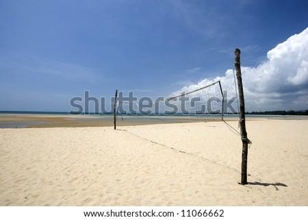 Beach Volleyball - stock photo