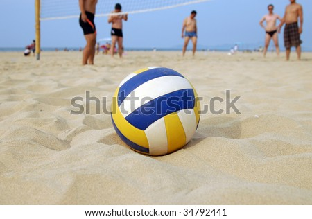 Beach Volleyball - stock photo