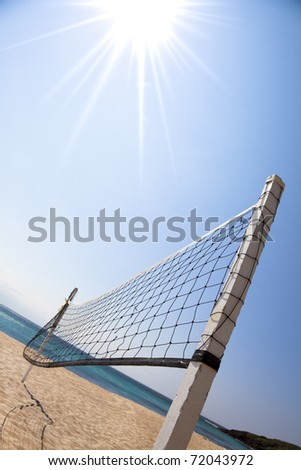 Beach Volleyball and sunlight - stock photo